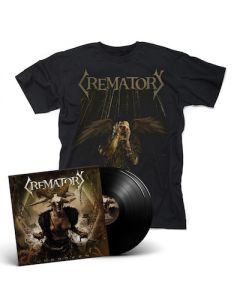 CREMATORY - Unbroken / BLACK 2LP Gatefold + T-Shirt Bundle