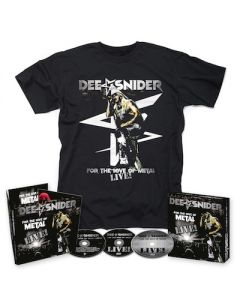 DEE SNIDER - For The Love Of Metal Live / CD + DVD + BLU-RAY Digipak + T-Shirt BUNDLE