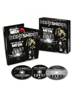 DEE SNIDER - For The Love Of Metal Live / CD + DVD + BLU-RAY Digipak