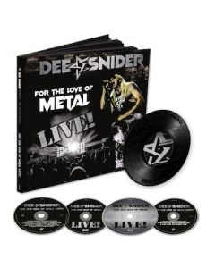 DEE SNIDER - For The Love Of Metal Live / 2CD + BLU-RAY + DVD + 7 INCH EARBOOK + T-Shirt Bundle