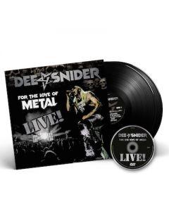 DEE SNIDER - For The Love Of Metal Live / BLACK 2LP + DVD + T-Shirt Bundle
