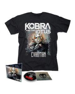 KOBRA AND THE LOTUS - Evolution / CD + T-Shirt Bundle