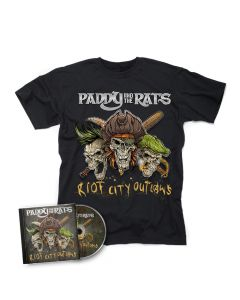 PADDY AND THE RATS-Riot City Outlaws/CD + T-Shirt Bundle