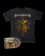 DEVILDRIVER-Outlaws 'Til The End Vol. I/CD + Cowboy T-Shirt Bundle