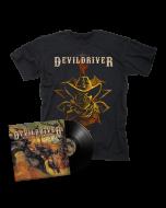 DEVILDRIVER - Outlaws 'Til The End BLACK Vinyl Gatefold LP + Cowboy T-Shirt Bundle