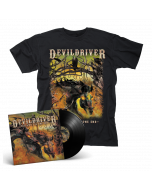 DEVILDRIVER - Outlaws 'Til The End BLACK Vinyl Gatefold LP + T-Shirt Bundle